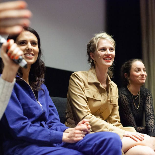 Directors Emily Seale-Jones, Florence Kosky & Martha Treves during the Q&A