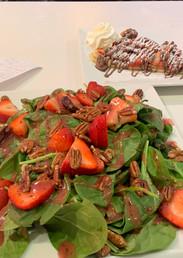 strawberry salad and nutella crepe.jpg
