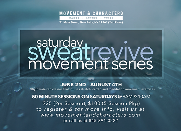 Saturday Sweat/Revival Series PACKAGES