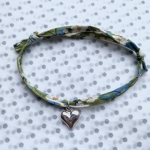 Green Ribbon Charm Bracelet