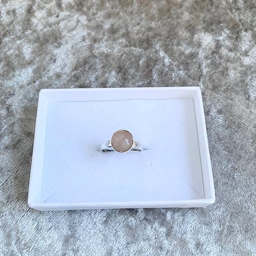 Adjustable Circular Moonstone Ring