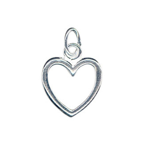 Sterling Silver Open Heart Charm