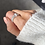 Thumbnail: Sterling silver beaded stacker ring
