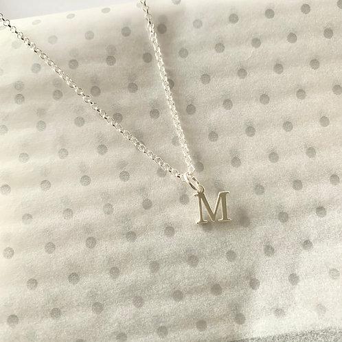 Silver Inital Necklace
