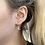 Thumbnail: Sterling Silver Crescent Moon Hoops