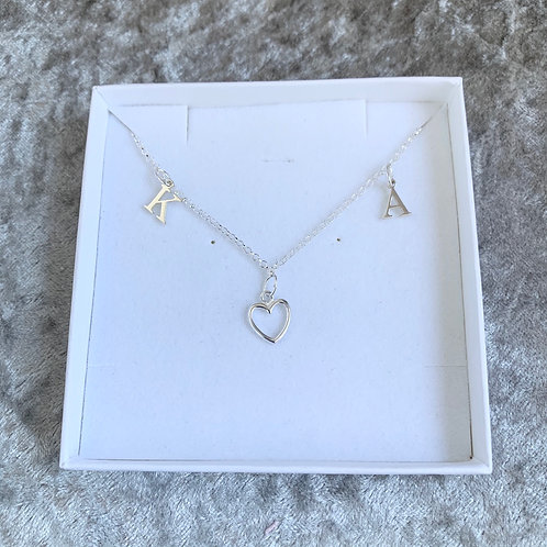 Love Initial Necklace