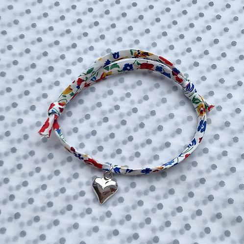 Multi-Coloured Charm Ribbon Bracelet