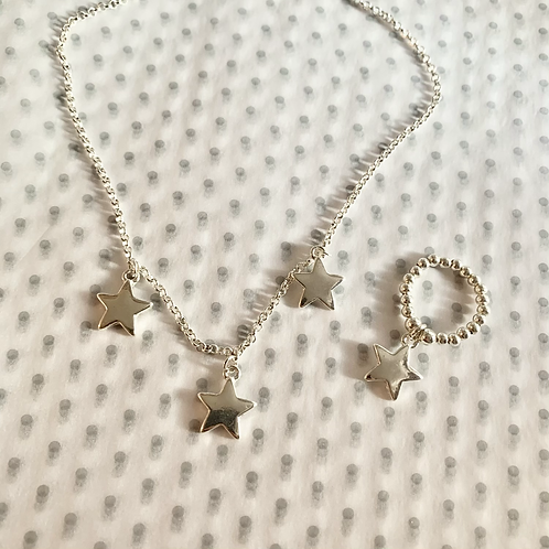 Star necklace and ring set