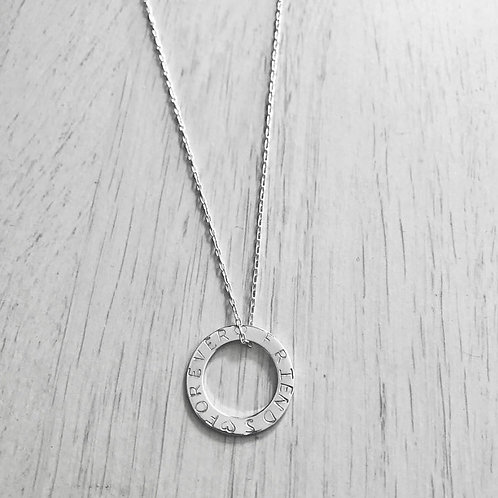Personalised Washer Necklace