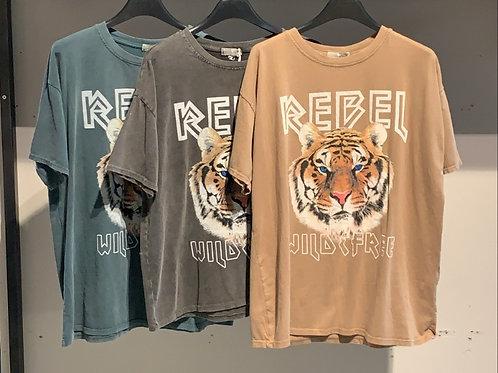 T-shirt rebel tiger lang