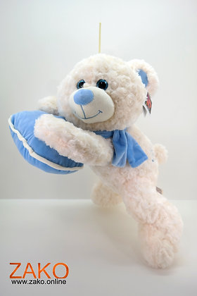 Bär mit Herz -liegend groß