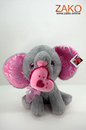 Elefant mit Herz -groß