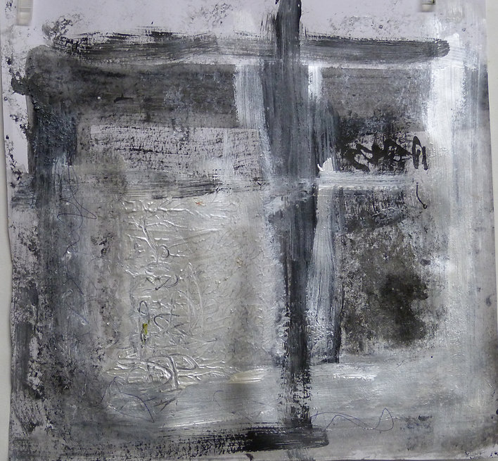 ABSTRACT NOIR et Blanc with SQUARE  2019