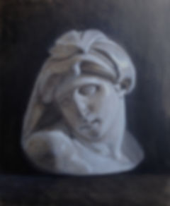 oil painting of bust