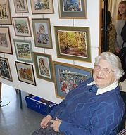 170923 Oldest artsit Audrey Catford Quid