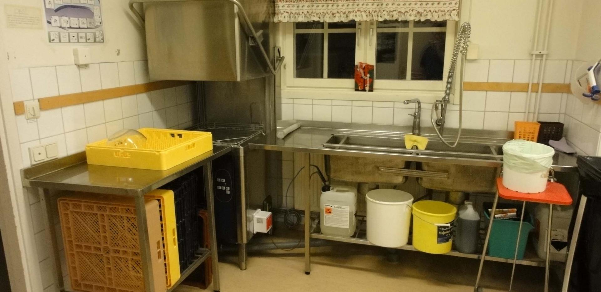 Kök tillhörande serveringen