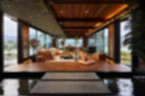 Sala con un estilo moderno industrial