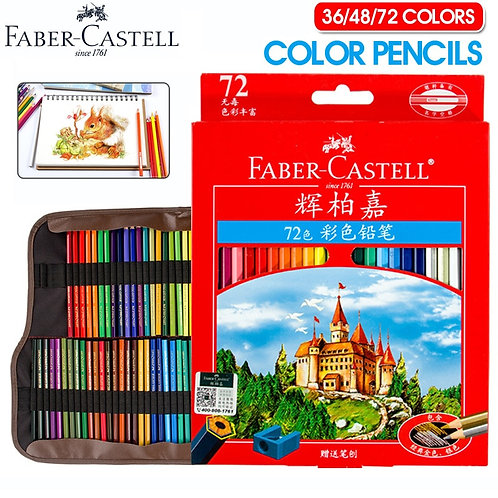 ARTIST COLORING PENCILS WITH SHARPENER-CHOICE OF 48-180 COLORS-COLORING BOOK