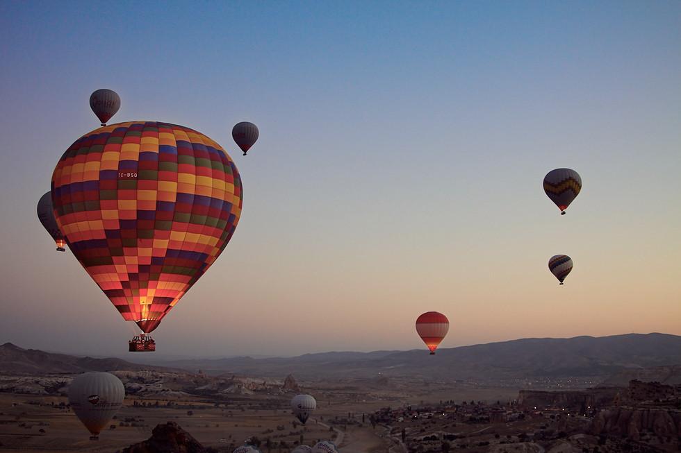 Hot Air Ballons Kapadokya, Globos en Capadocia, Hot Air Ballons in Kapadokya