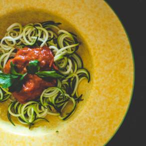 Zucchini Noodles w/ Marinara Sauce