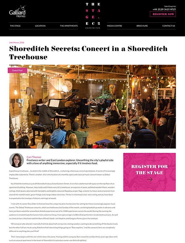 The Stage Shoredich Copywritin