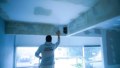 Ceiling plastering