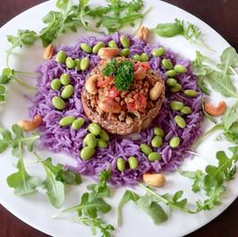 Portobello Paarse Salade  € 13