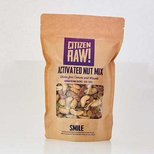 Gluten Free Tamari and Wasabi Activated Nuts
