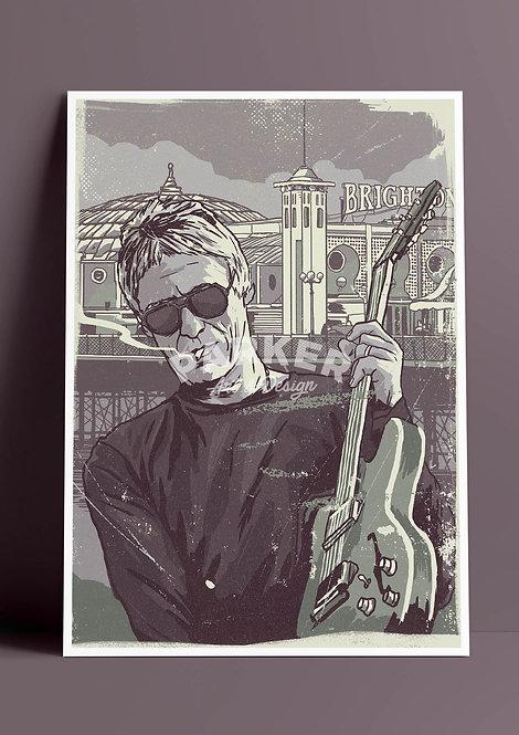 The Modfather - Paul Weller Print