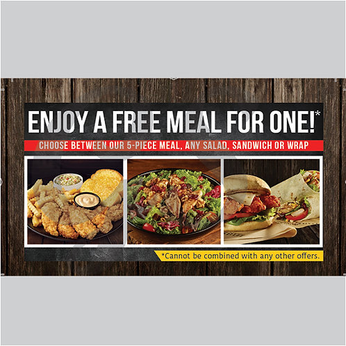 1000 - Free Meal Offer Cards