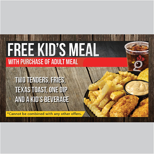 Kid Meal Card