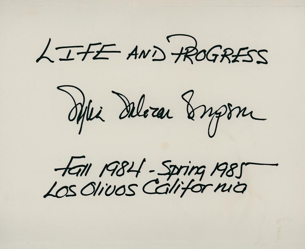 Life and Progress