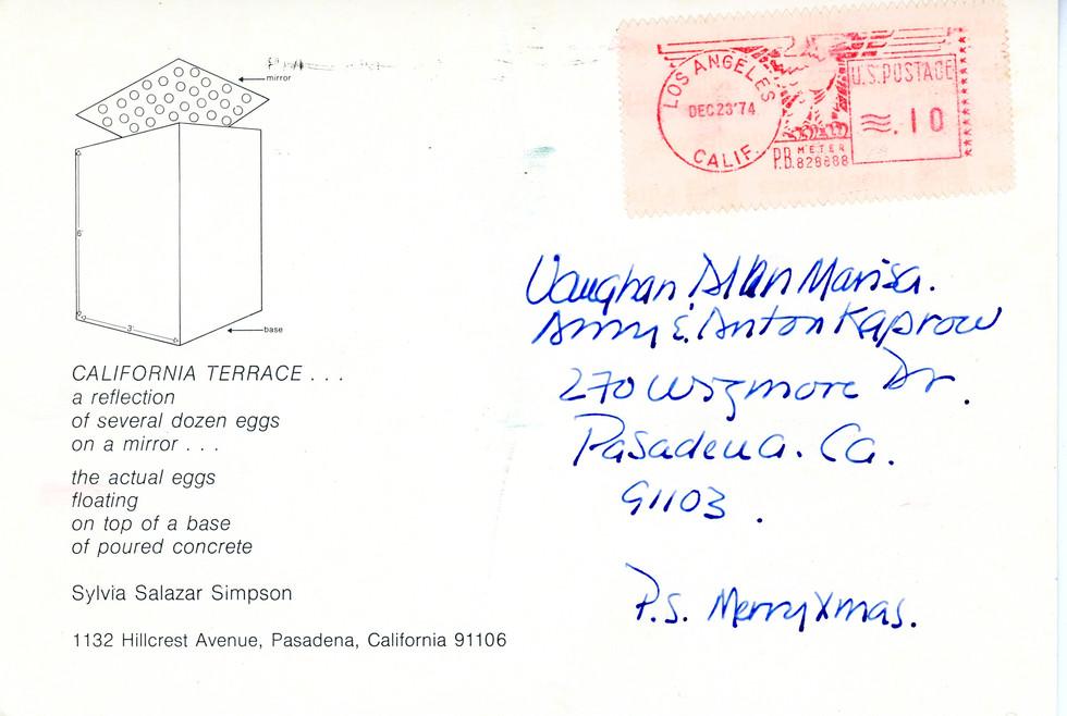 California Terrace, 1974, Photographic documentation