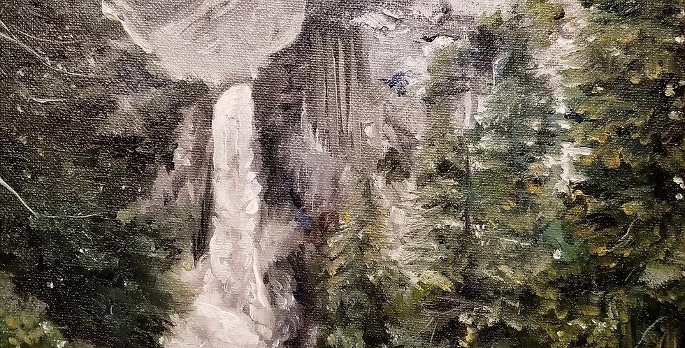 Study of Lower Yosemite Falls