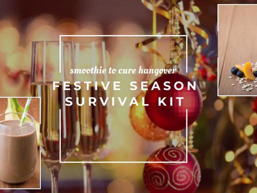 Festive season survival. Hangover cure smoothies
