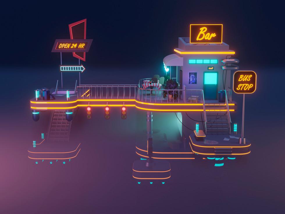 neon bar 3D