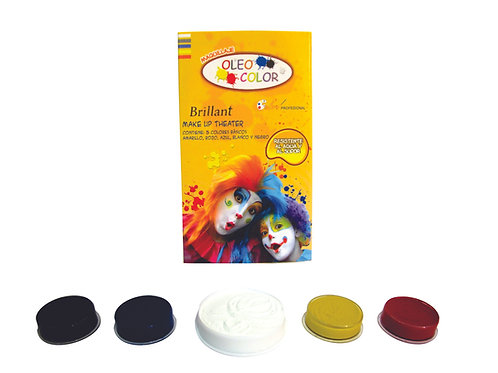 Maquillaje Oleo Color Make Up Theatre  - Kit x 5 Colores