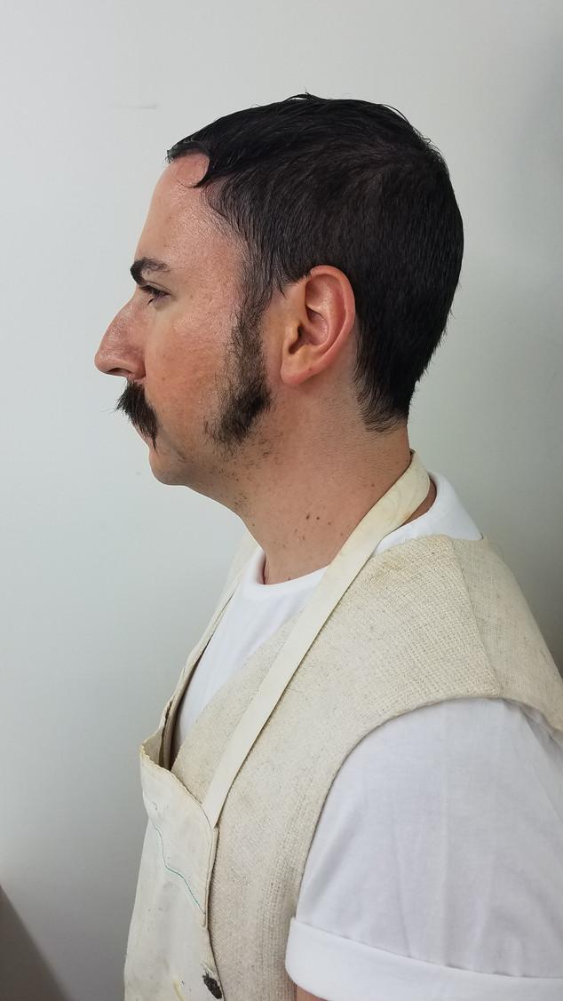Hand Laid Mustache & Beard