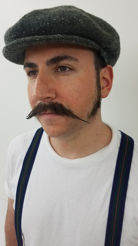 Hand Laid Mustache & Sideburns