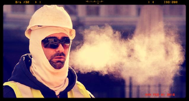 hideg munkakörnyezetben végzett munkák - legyünk óvatosak!