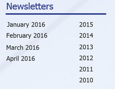 Past Newsletters available on website