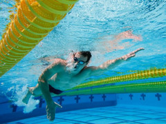 The advantage faster swimmers have over slower swimmers is technique