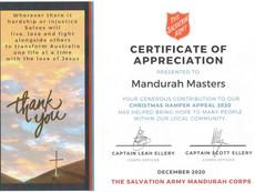 Salvation Army Thank Mandurah Masters