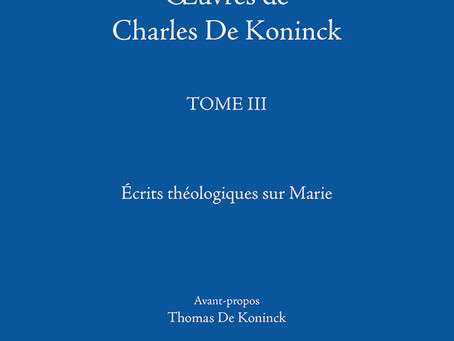 Laval release of De Koninck's Mariology
