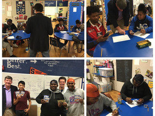 Patterson High School Students apply Financial Literacy for Thanksgiving!