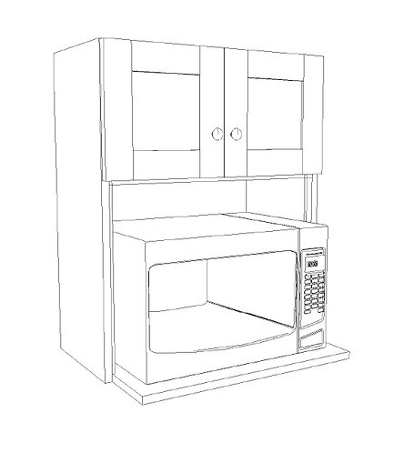 "Wall Microwave Upper 24"" x 30"""