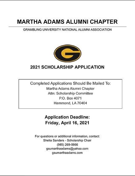 2021 Scholarship