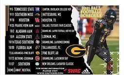 Football Schedule Fall 2021