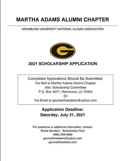 MA July 2021 Scholarship