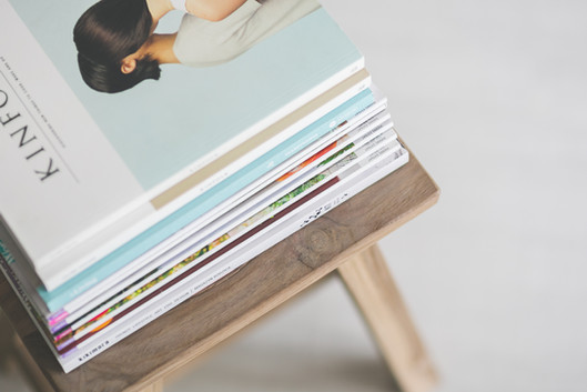 Zeitschriften-Stack